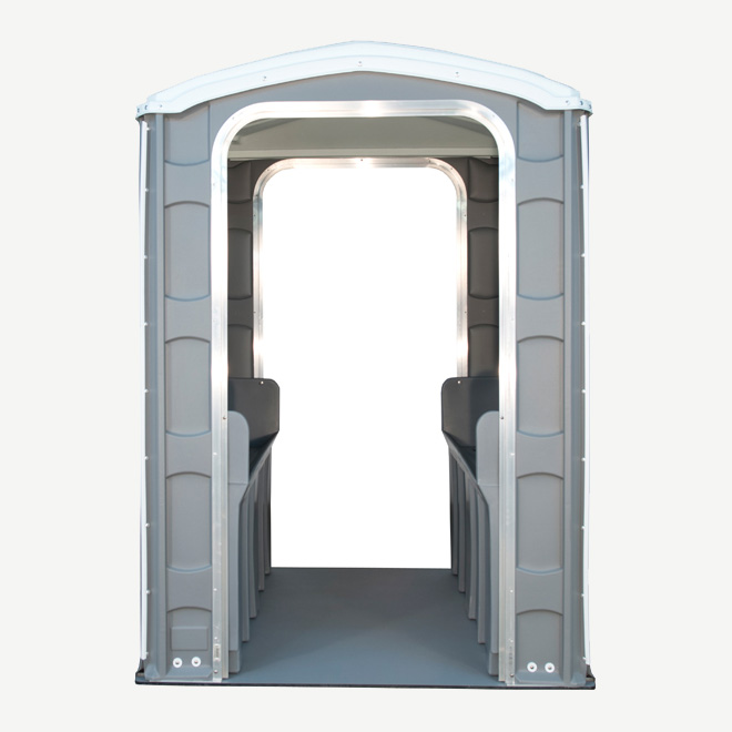 polyportables urinal grey portable toilet front view